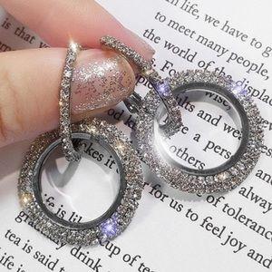 💋Just In💋Full Rhinestone Zircon Earrings